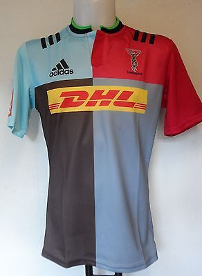 Harlequins Rugby 2015/16 Home Jersey By Adidas Size Large Brand New