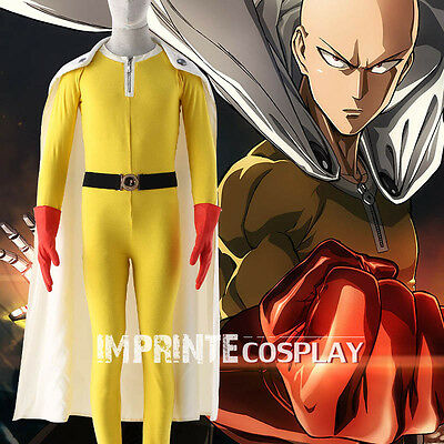 One Punch Man Yellow Body Suit Cosplay Costume Full Set FREE P&P