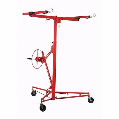 Drywall Lift Rolling Lifter 11' Panel Hoist Jack Caster Construction Lockable