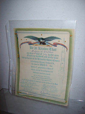 Apollo 11 Kennedy Space Center Witness To Launch Certificate Personalized