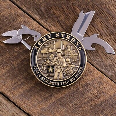 Army Strong Coin Knife