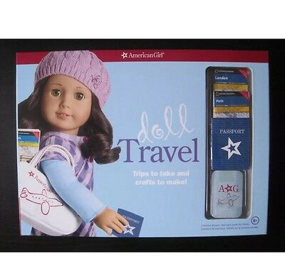 American Girl Doll Travel Activity Book Maps Duffle Passport Brand New Kit NEW
