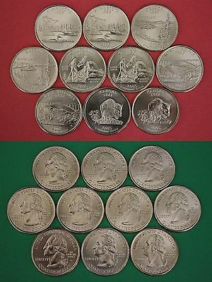 2005 D P State Quarters From Uncirculated Mint Sets Clad Flat Rate Shipping