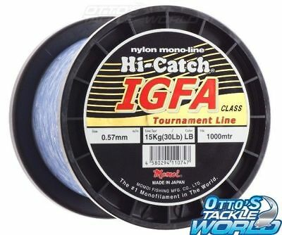 Momoi Hi-Catch IGFA Class 50 lb 24kg 1000m Light Blue Mono Line BRAND NEW @Ottos