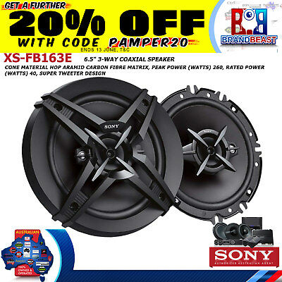 "Sony Xsfb163e 16cm 6.5"" 260w  3-way Coaxial Speakers  Xs-fb163e"
