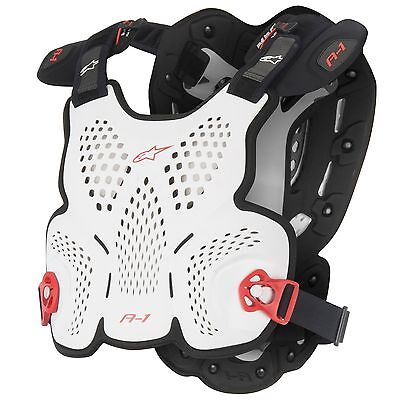 Alpinestars MX/MC/Enduro A-1 Roost Guard - Black / White / Red Size - XL/XXL