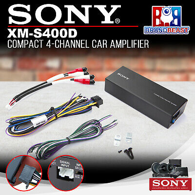 Sony Xms400d Compact 4-channel Car Amplifier 45 Watts Rms X 4 Micro Amp  400 Wat