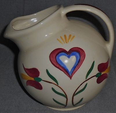 Shawnee PENNSYLVANIA DUTCH PATTERN 64 oz Ice Lip BALL JUG Made in Ohio