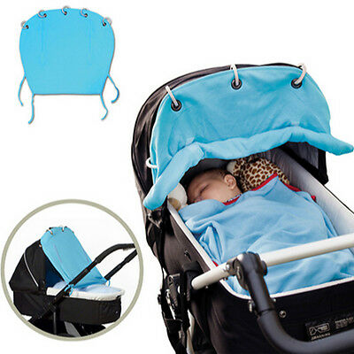 Baby Kids Stroller Accessories Sun Protec Cover Portable Baby Pram Sunshade Blue