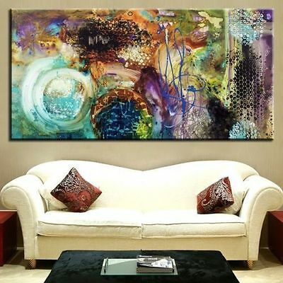 (No Frame) MODERN ABSTRACT LARGE WALL ART OIL PAINTING ON CANVAS