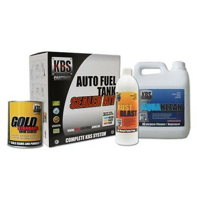 KBS Auto Fuel Tank Sealer Kit Rust and Corrosion Prevention Degreaser