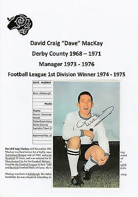 Dave Mackay Derby County 1968-1971 Mgr 1973-76 Rare Orig Signed Annual Cutting