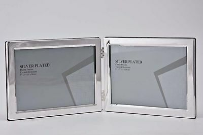 """Double Silver Photo Picture Frame 3.5x5"""", 4x6"""" & 5x7"""""""