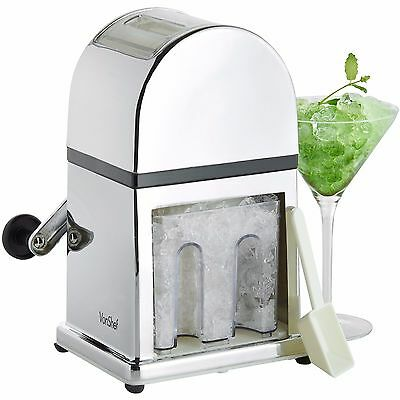 VonShef Manual Ice Crusher Machine Tray & Scoop for Cocktails & Smoothies