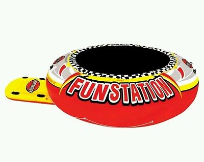 SportsStuff Funstation PVC Inflatable Floating Trampoline Water 12' Lake 58-1035