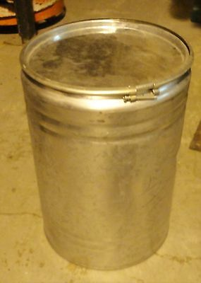 LOT OF FOUR (4) 10 GALLON ZINC COATED DRUMS, LID AND SECURE RING -   No.590