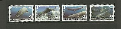 British Antarctic -Sg361-364 Endangered Species Whales Blue Whale Set Mnh