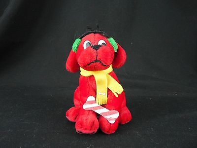 Clifford the Big Red Dog Stuffed Animal Plush Scarf Christmas Holiday Winter A19