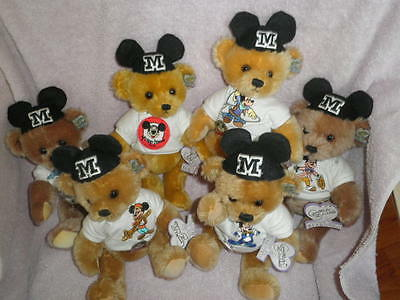 "Annette Funicello BEAR ""MOUSEKEBEAR"" DAYS OF THE WEEK Limted Edition 2500"