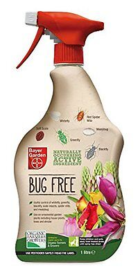 Bayer Garden bug killer useful control of scale insects/blackfly/spider mite, 1L