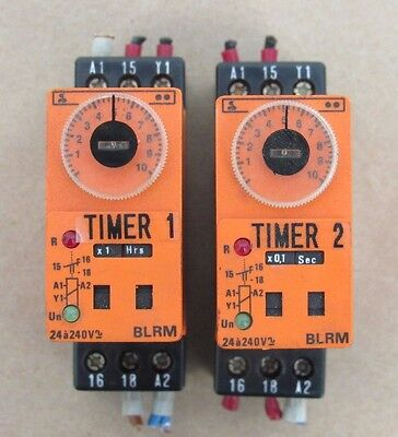Lot Of 2: Syrelec Blrm Timer Time Delay Relay 24A 240V Made In France Qe