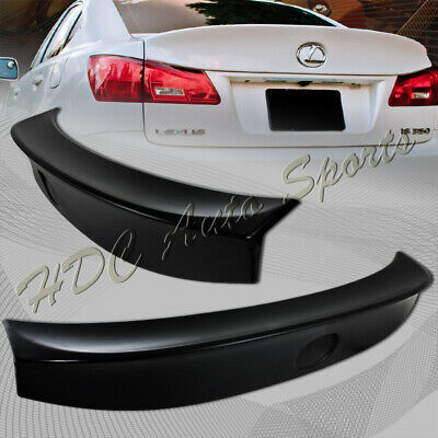 For 2006-2013 Lexus IS250 IS350 Black ABS WALDS Style Rear Trunk Spoiler Wing