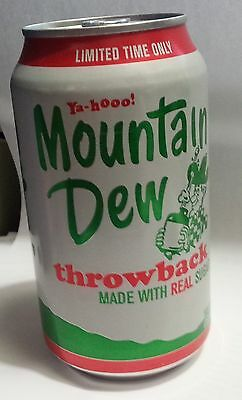 2010 MOUNTAIN DEW THROWBACK 12 Oz FULL ALUMINUM CAN With Soda