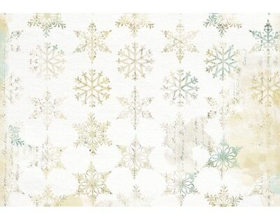 3 Decopatch Paper Sheets - Christmas Snowflakes   Decoupage Crafts