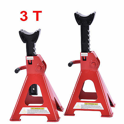 2 X 3 Ton Axle Stands Lifting Capacity Stand Heavy Duty Car Caravan Floor Jack