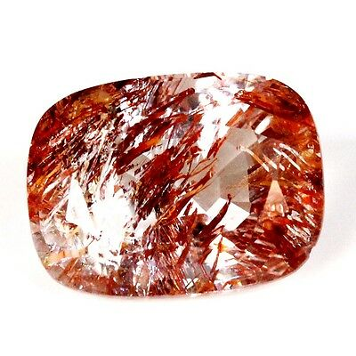 10.79 ct Natural Rutilated Topaz Faceted ( Untreated ) Mogok / Q7906