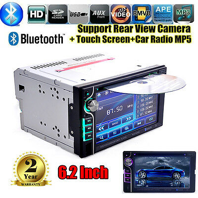 "6.2"" Autoradio 2 Din Cd Dvd Stereo Touchscreen Bluetooth Mp3 Mp5 Usb Sd Player"
