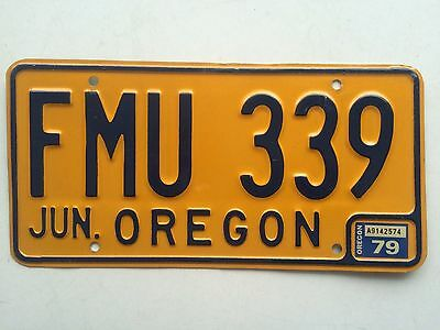 Oregon 1979 1974 Vintage License Plate Old Car Tag Auto Man Cave Garage Wall Bar