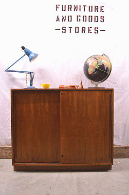 Vintage Industrial Wooden School Cabinet Cupboard Sideboard Bookcase