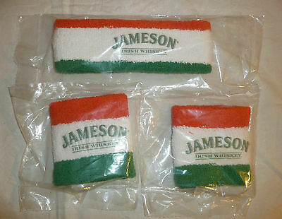 Lot of 3 - Jameson Irish Whiskey Headband and 2 Wrist Bands - Sweat Sports Bar