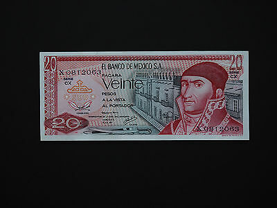 MEXICO EARLY CLASSIC  20 PESOS   p64  DATE 1977  COLOURFUL MINT  * UNC *