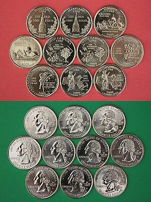2007 D P S State Quarters From Proof /& Mint Sets Clad Combined Shipping