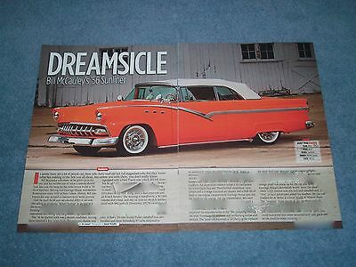 "1956 Ford Sunliner Convertible Custom Article ""Dreamsicle"""