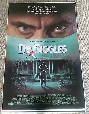 Dr.Giggles (1992) Original Movie Poster 27x40 Double Sided