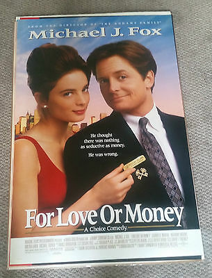 For Love Or Money (1992) Original Movie Poster 27x40 Double Sided Michael J Fox