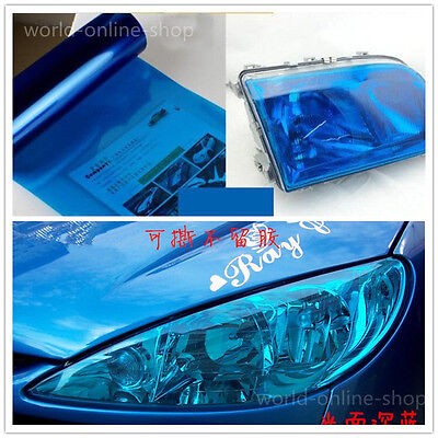 "12"" x 48"" Royal BLUE Car Headlight Taillight Fog Wrap Cover Vinyl Film Tint Cool"