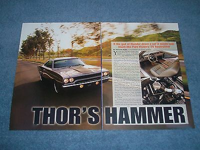 """1970 Plymouth Roadrunner Pro-Touring Article """"Thor's Hammer"""""""
