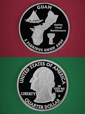 2009 S Guam Proof State Quarter Deep Cameo Mirror Finish Flat Rate Shipping