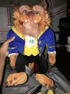 """DISNEY Store PLUSH Beauty and the Beast 2016 The BEAST 15 1/2"""" Stuffed Toy"""