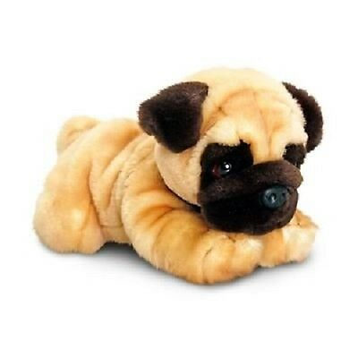 Keel Toys Pug Soft cuddly Toy Dog 30cm called Reggie