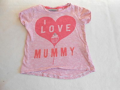 Baby Girls Clothes 6-9  Months - Next Mummy T Shirt Top -Combine Postage & Save