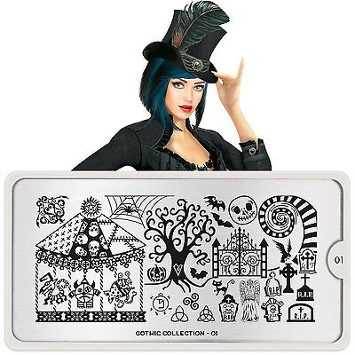 Moyou London GOTHIC nail art Stamping Plates, 13 plates to choose from
