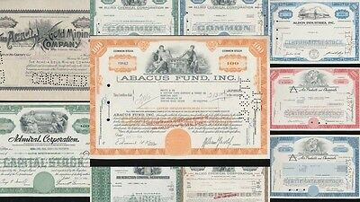 Allied Chemical Admiral Acacia Gold Mining Share Certificates x 10(G17872)