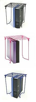 "12"" Tall Folding Metal Wire School Locker Shelf Stackable Storage Book Organizer"