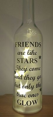 FRIENDS - Vinyl decal sticker ONLY BOTTLE NOT INCLUDED -  IDEAL FOR WINE BOTTLES