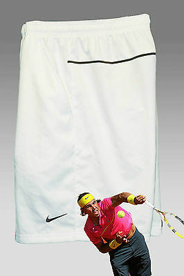 New Nike Mens Dri Fit Stay Cool TENNIS Shorts Practice Shorts White